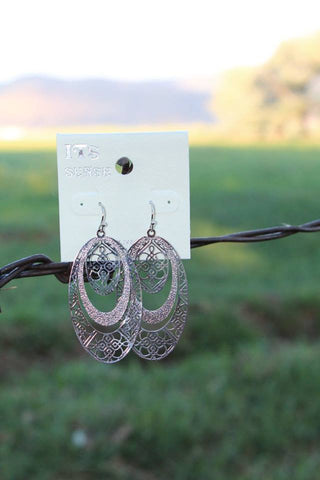 Layered Oval Earrings - 2 Colors