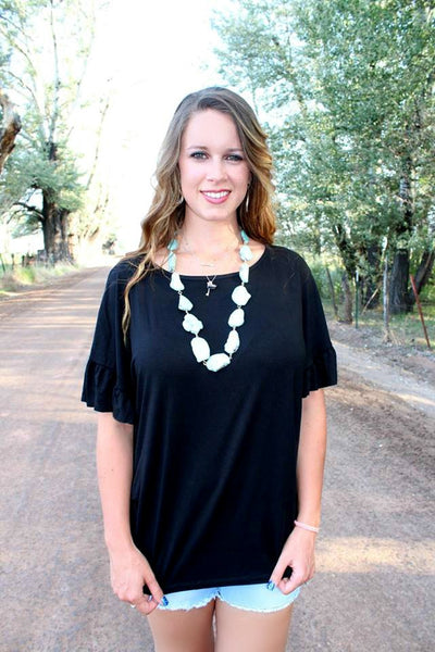 Bonnie Top - Black - Jourdan's Jewels