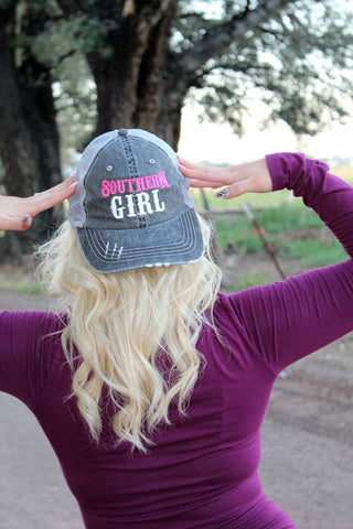 Southern Girl Trucker Hat - 5 Colors - Jourdan's Jewels