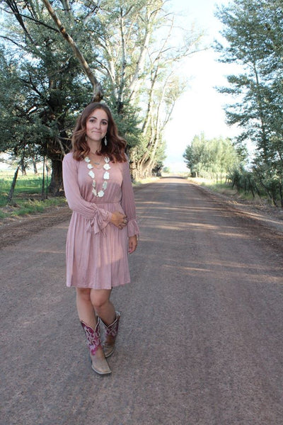 Yvonne Dress - Mauve - Jourdan's Jewels