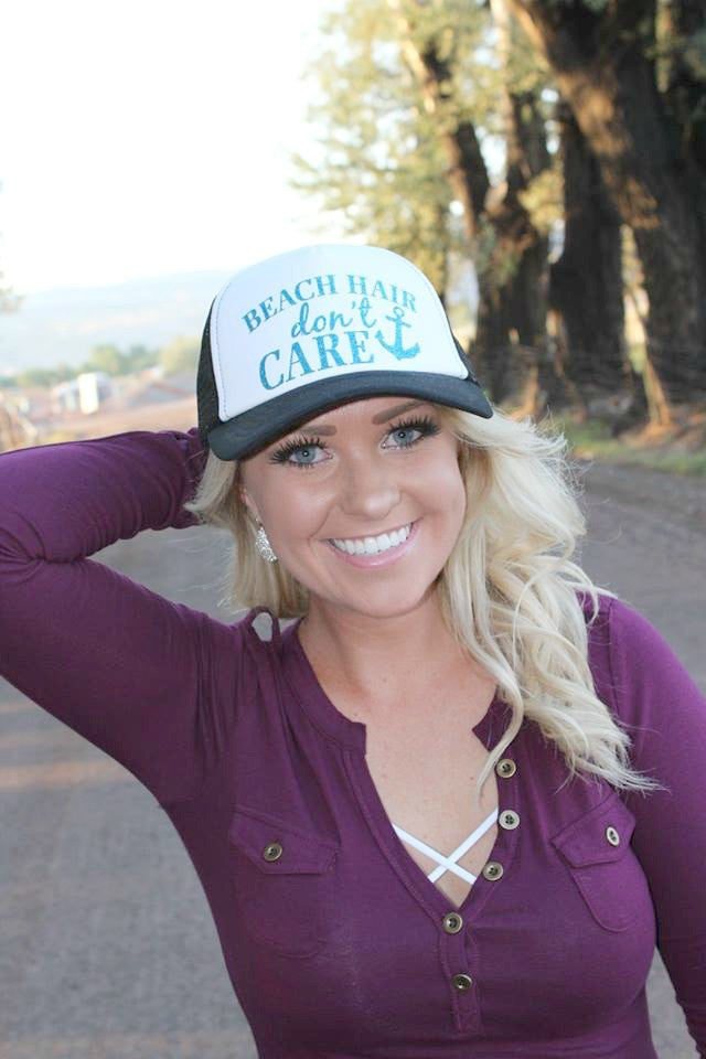 Beach Hair, Don't Care Trucker Hat - 4 Colors - Jourdan's Jewels