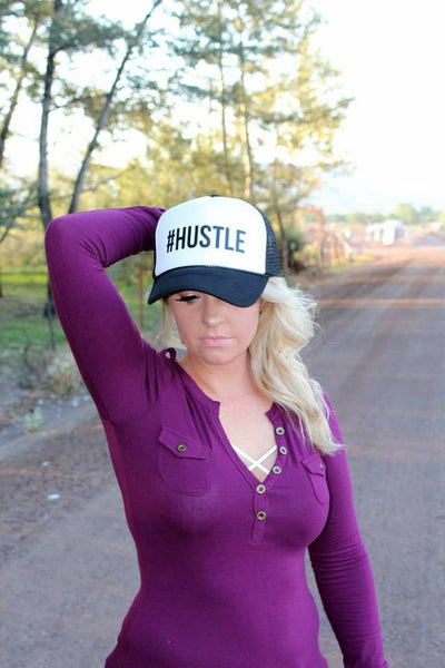 #HUSTLE Trucker Hat - Jourdan's Jewels
