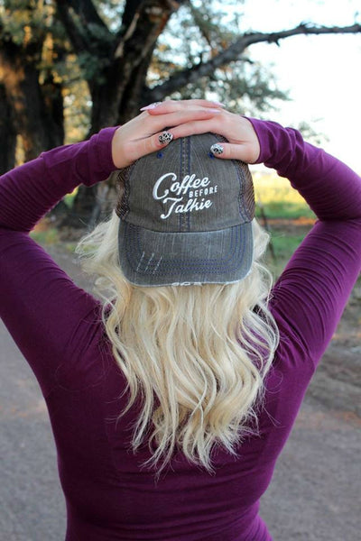 Coffee Before Talkie Hat - 2 Colors - Jourdan's Jewels