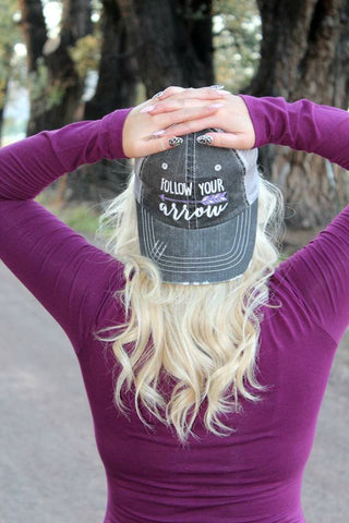 Follow Your Arrow Trucker Hat - 3 Colors - Jourdan's Jewels