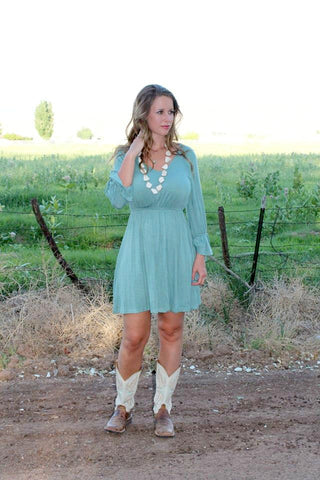 Yvonne Dress - Teal - LARGE - Jourdan's Jewels