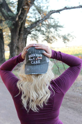 Biker Hair, Don't Care Trucker Hat - 4 Colors - Jourdan's Jewels