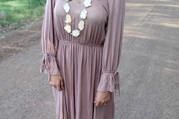 Yvonne Dress - Mauve - LARGE - Jourdan's Jewels