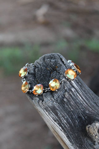 Colored Crystal Bracelet - Topaz - Jourdan's Jewels