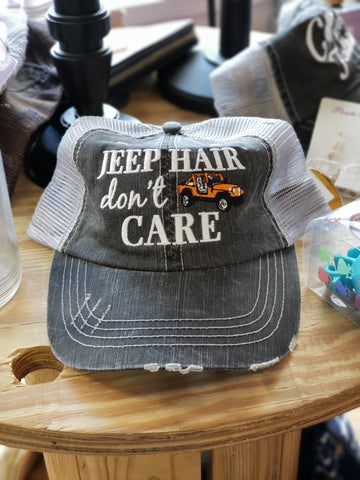 Jeep Hair, Don't Care Hat - 6 Colors - Jourdan's Jewels