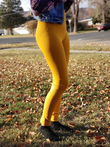Mustard Fleece Lined Leggings - Jourdan's Jewels