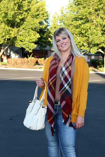 Pocket Cardigan - Mustard - Jourdan's Jewels