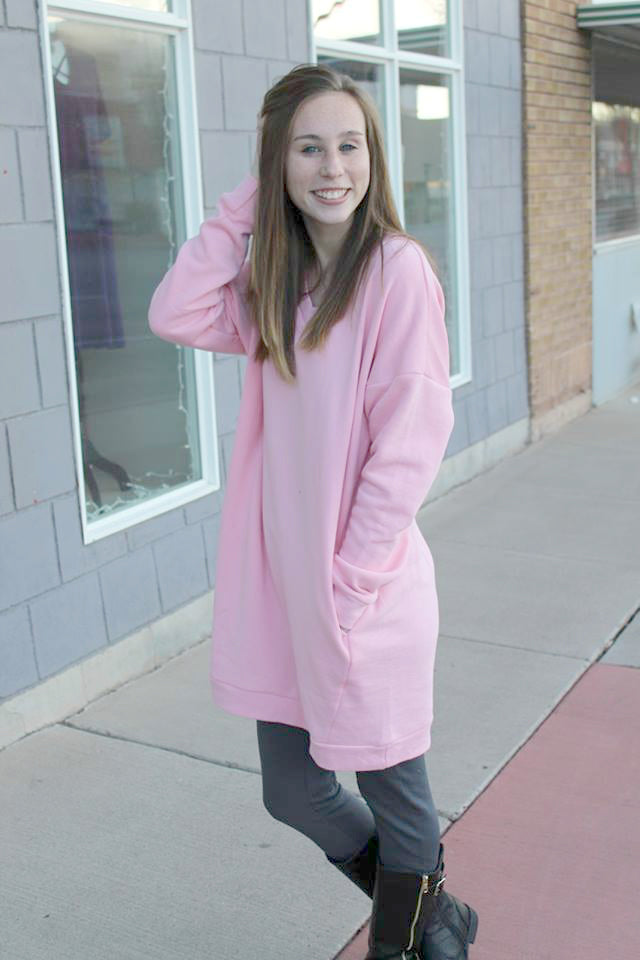 Long Oversized Sweater - Pink - Jourdan's Jewels