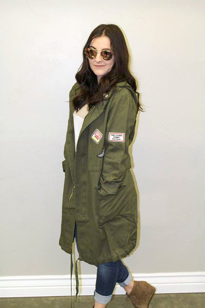 Olive Military Jacket - Jourdan's Jewels