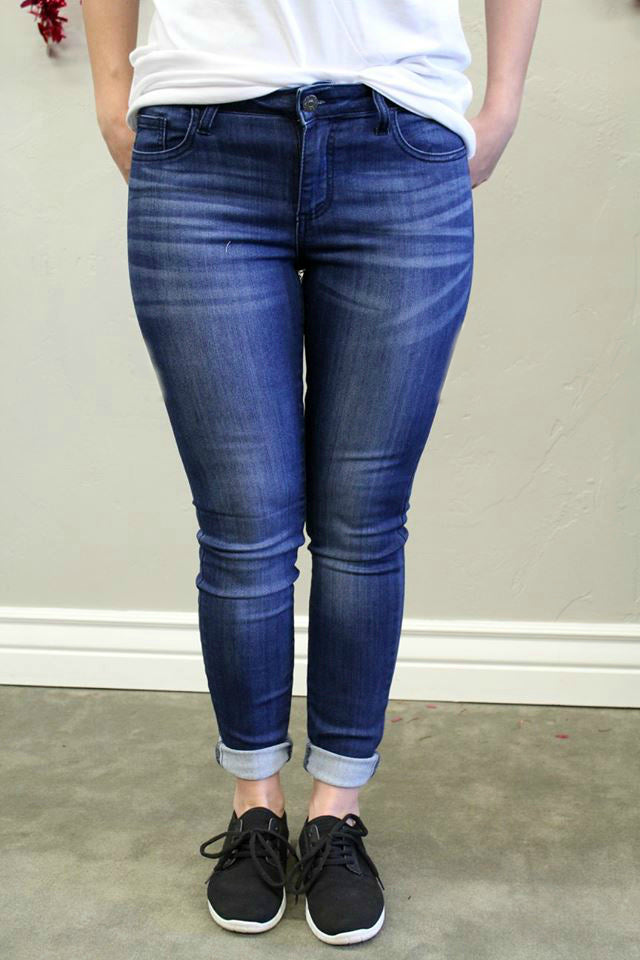 Dark Wash Skinny Jeans - Jourdan's Jewels