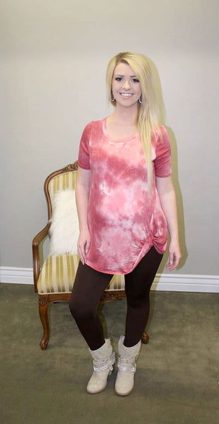 Pink Tie Dye Knotty Top - Jourdan's Jewels