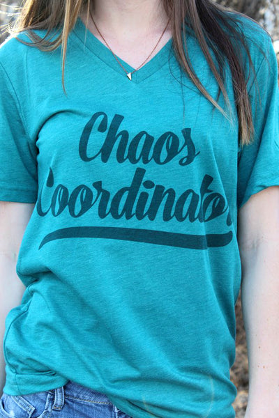 Teal Chaos Coordinator Tee - MEDIUM - Jourdan's Jewels