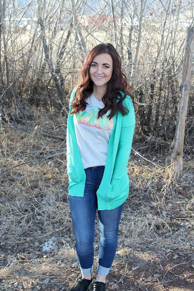 Pocket Cardigan - Mint
