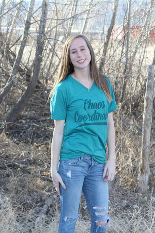 Teal Chaos Coordinator Tee - Jourdan's Jewels