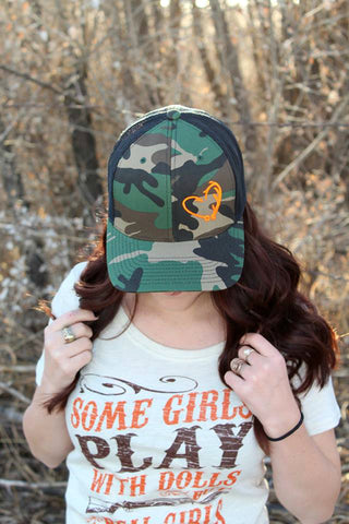 Camo Hunter's Heart Hat - Jourdan's Jewels