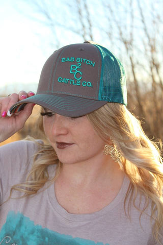 Bad Bitch Cattle Co. Hat - Blue - Jourdan's Jewels