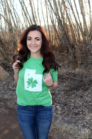 Green Utah Shamrock Shirt - Jourdan's Jewels