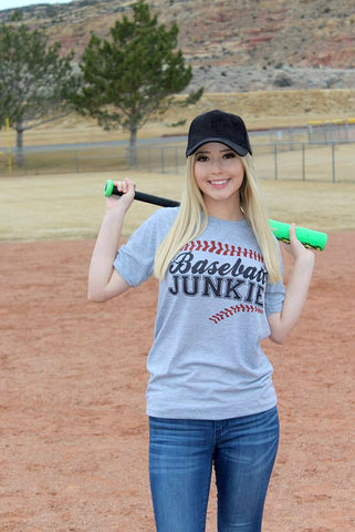 Baseball Junkie Tee - Jourdan's Jewels