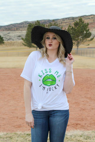 Kiss Me, I'm Lucky Tee - Jourdan's Jewels