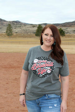 Living that Baseball Life #baseballmom Tee