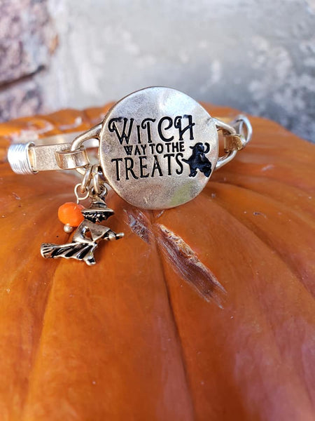Witch Way to the Treats Bangle Bracelet