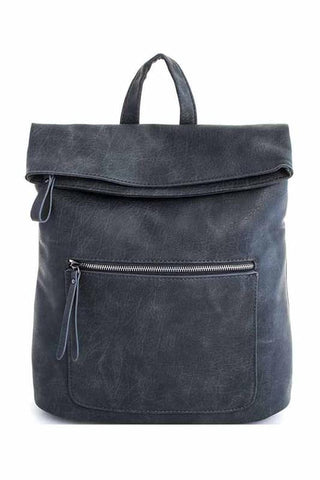 Grey Foldover Backpack - Jourdan's Jewels