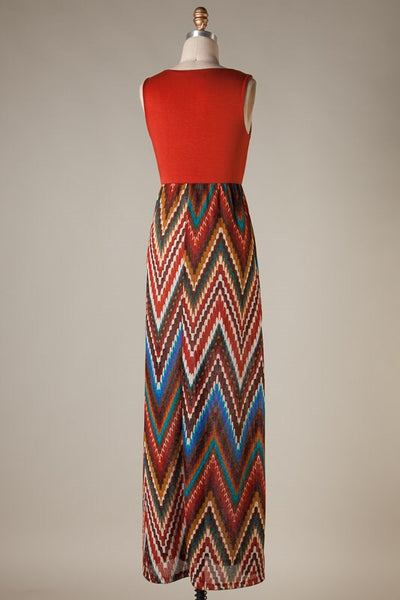 Elizabeth Maxi Dress - Rust - Jourdan's Jewels