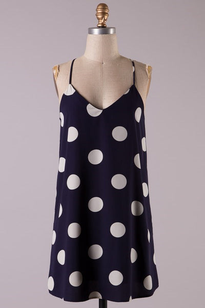 Kimmy Polka Dot Dress - Navy - Jourdan's Jewels