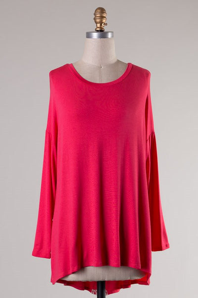 Patsy Top - Dark Coral - Jourdan's Jewels