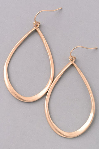 Gold Twisted Teardrop Earrings - Jourdan's Jewels