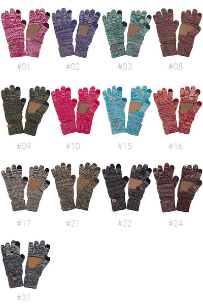 CC Touch Screen Gloves - Four Tone - Jourdan's Jewels