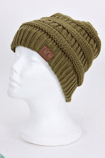 CC Beanie - Olive - Jourdan's Jewels