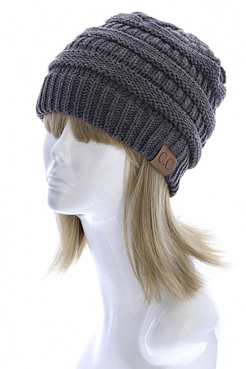 CC Beanie - Charcoal - Jourdan's Jewels
