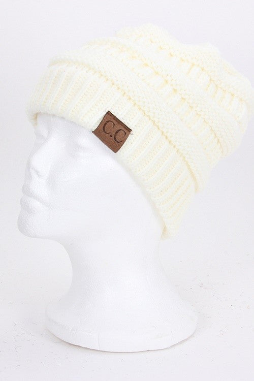 CC Beanie - Ivory - Jourdan's Jewels
