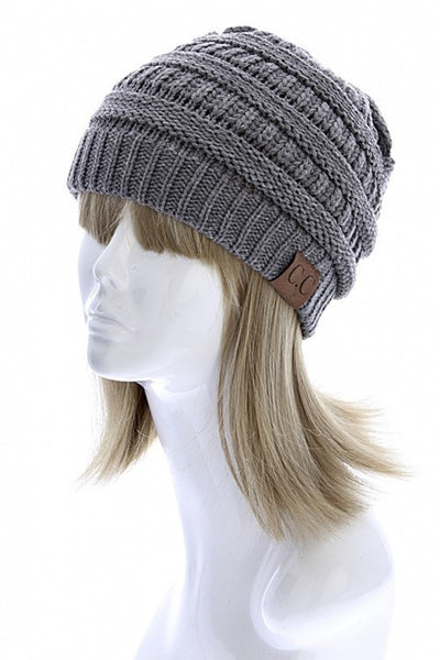 CC Beanie - Grey - KIDS - Jourdan's Jewels