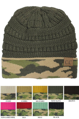 CC Beanie - Olive Camo - Jourdan's Jewels