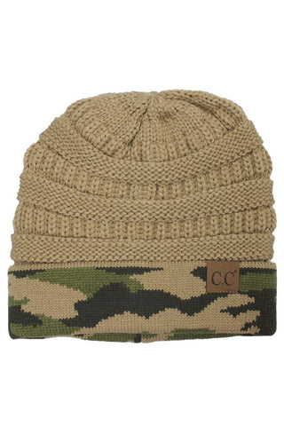 CC Beanie - Camel Camo - Jourdan's Jewels