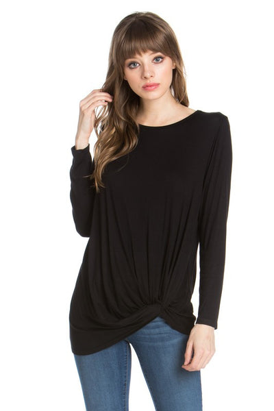 Knotty Top Long Sleeve - Black