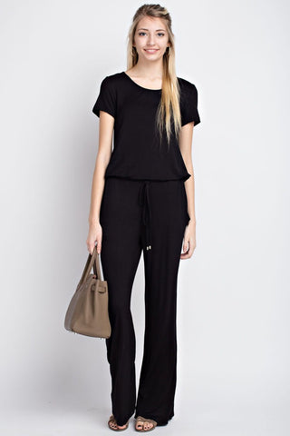Black Jumpsuit with Keyhole Back