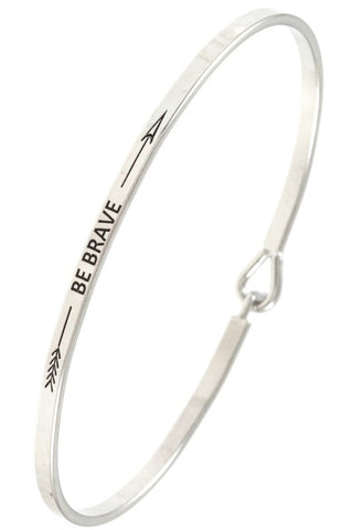 Be Brave Bangle Bracelet - 2 Colors