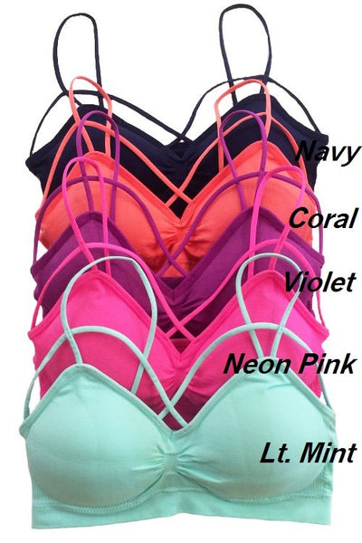 Criss Cross Bralette - 4 Colors! - Jourdan's Jewels