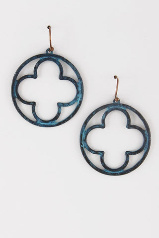 Clover in a Circle Earrings - 2 Colors - Jourdan's Jewels