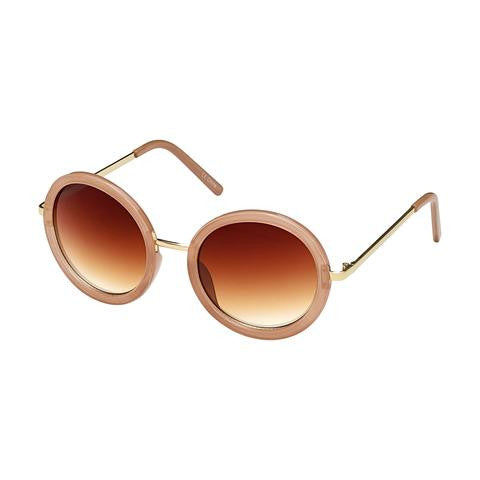 Round Rose Gold Sunglasses - Jourdan's Jewels