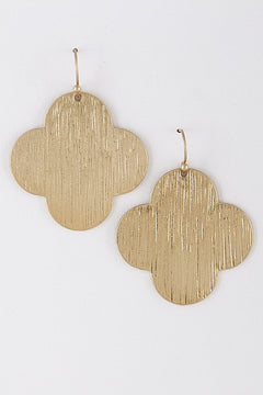 Flat Clover Earrings - 2 Colors