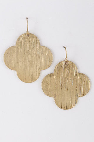 Flat Clover Earrings - 2 Colors - Jourdan's Jewels