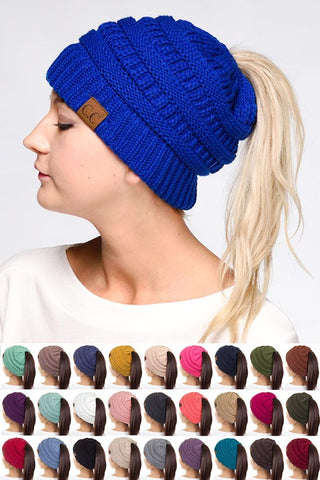 CC Pony Tail Beanie - Kids & Adult - Many Colors! - Jourdan's Jewels
